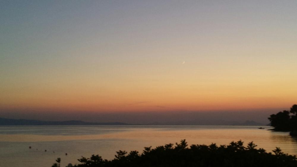 Sunset over Panormos beach-Skopelos island