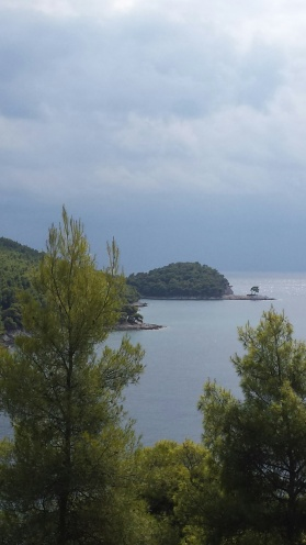 agnondas bay from a distance - skopelos-greece