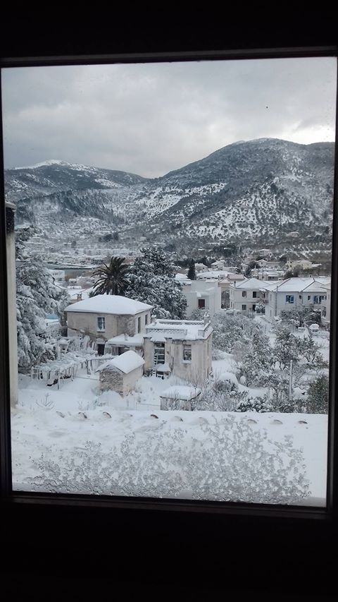 Snow in Skopelos island - Winter 2017